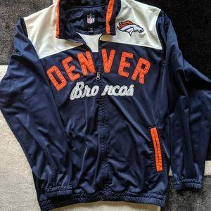 Denver Broncos Full Zip Track Jacket Size Large